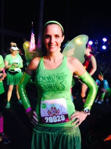 In my Tinkerbell glory pre-race.