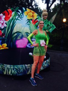 With Tinkerbell on the Half Marathon Course, about mile 4.