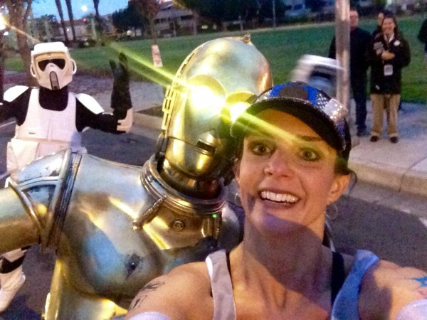 C-3PO was out cheering!