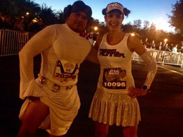 One of the many males dressed as Princess Leia during the race!